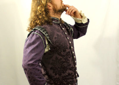Purple Brocade Tunic